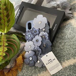 COACH I Phone XR floral appliqué case